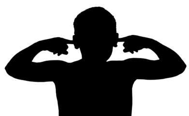 Isolated Boy Child Gesture Not Listening