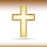 Golden cross. Symbol of the Christian faith. poster