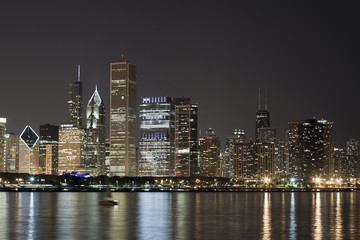 Night View at Downtown Chicago
