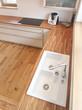Küchenzeile in Holzdesign
