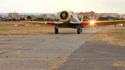 Falco F8 - posteggio in pista