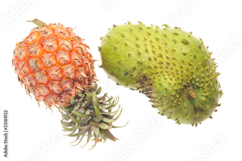 Ripe Pineapple And Soursop