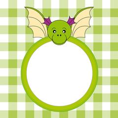 Marco infantil dragón