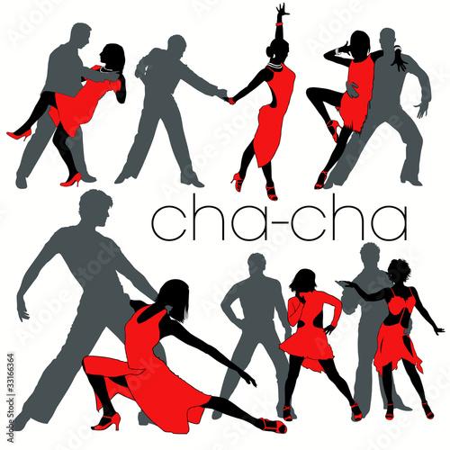 Cha-cha silhouettes set - 33166364