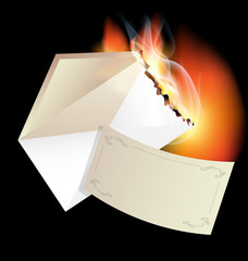 burning envelope