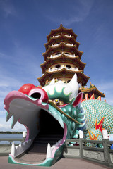 dragon tower of kaohsiung city in taiwan