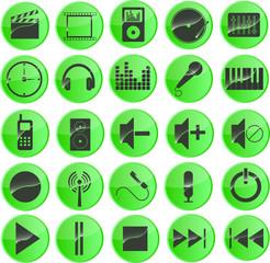 Multimediasymbole Grün