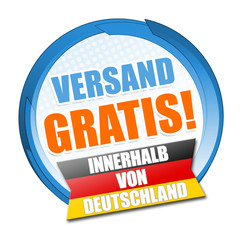 Gratis Versand! Button, Icon