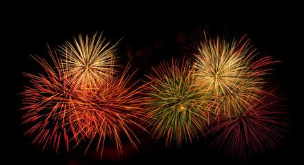 colorful firework display