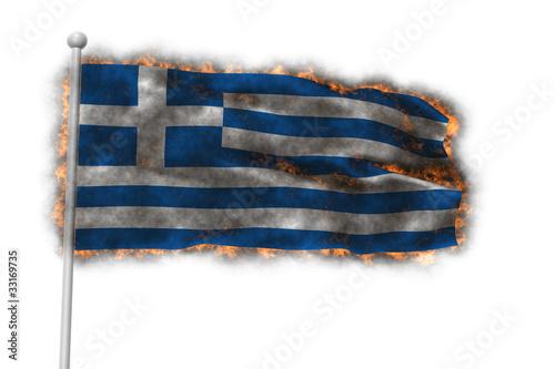 Griechenland Feuer-Fahne