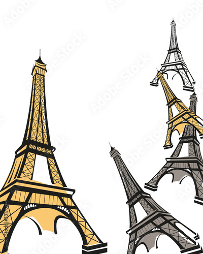 Abstract background with Eiffel Tower - 33170915
