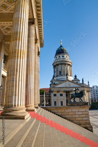 Columns at the Gendarmenmarkt in Berlin