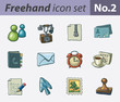Freehand icon set - office