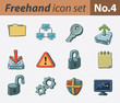 Freehand icon set - computer security