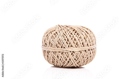 a knot of rope isolated over white background