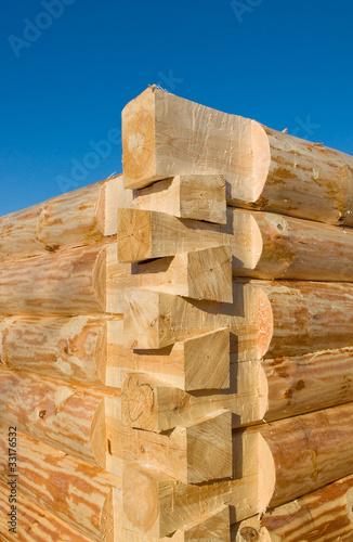 Foto строительство деревянного дома