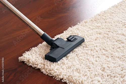Modern vacuum cleaner to tidy up the living room.