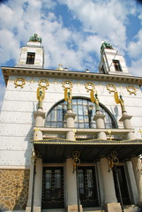 Art Nouveau Church, Golden Angels, Vienna