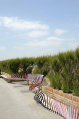 Longest bench in England, Littlehampton, Sussex
