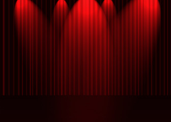 projecteurs sur scène