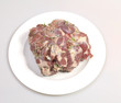 Leg of lamb  on a plate