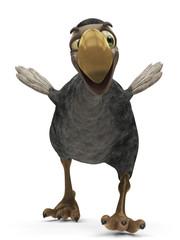 dodo cartoon running away