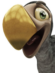 dodo cartoon close up