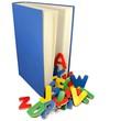 Bunte Buchstaben und Buch 2
