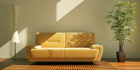 Orangenes Sofa