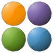Störer rund - gezackt - 4 Farben