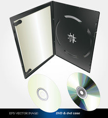 eps Vector image:DVD & dvd case