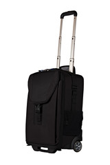 Black Carry-on Luggage Isolated on White Background