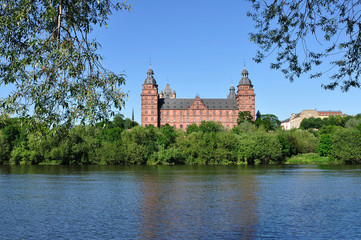 Johannisburg Castle on the Main river,Bavaria - Germany
