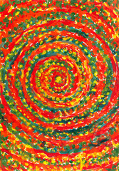 Спираль красного цвета. Картина. Фон.