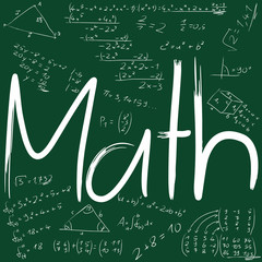 Math with formulas written in board
