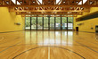 Leinwanddruck Bild - public school, interior wide gym
