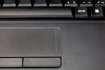touchpad and keyboard laptop close-up