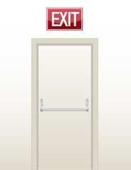Emergency exit door illustration design