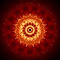 Mandala goldbraun II