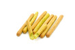 Spinach Breadsticks Isolated on White Background