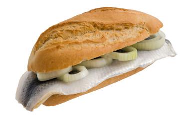 Fischbrötchen mit Bismarckhering
