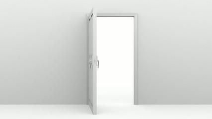 Puerta abriendose