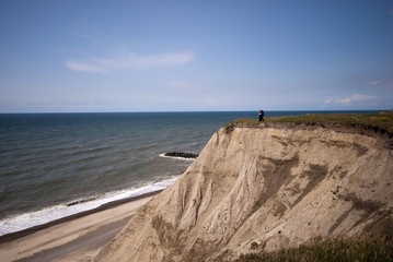 Cliff erosion at the Danish coastline