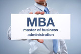 MBA Master of Business Administration poster