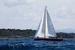 Segelboot in voller Fahrt