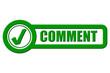 Checkbox Schild grün rel COMMENT