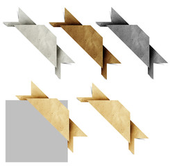 Header origami tag recycled paper craft