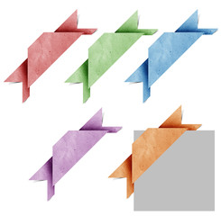 Corner header origami tag recycled paper craft