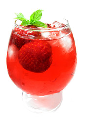 alcoholic strawberry  punch cocktail