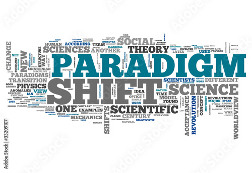 "Word Cloud ""Paradigm Shift"""
